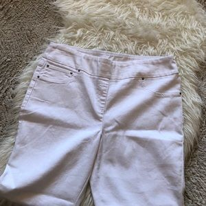Ruby Rd. Jeans - Crisp white Jeggings by Ruby Rd. Size 16